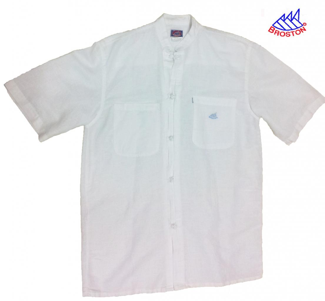 Polo Blanc Col Mao Broston