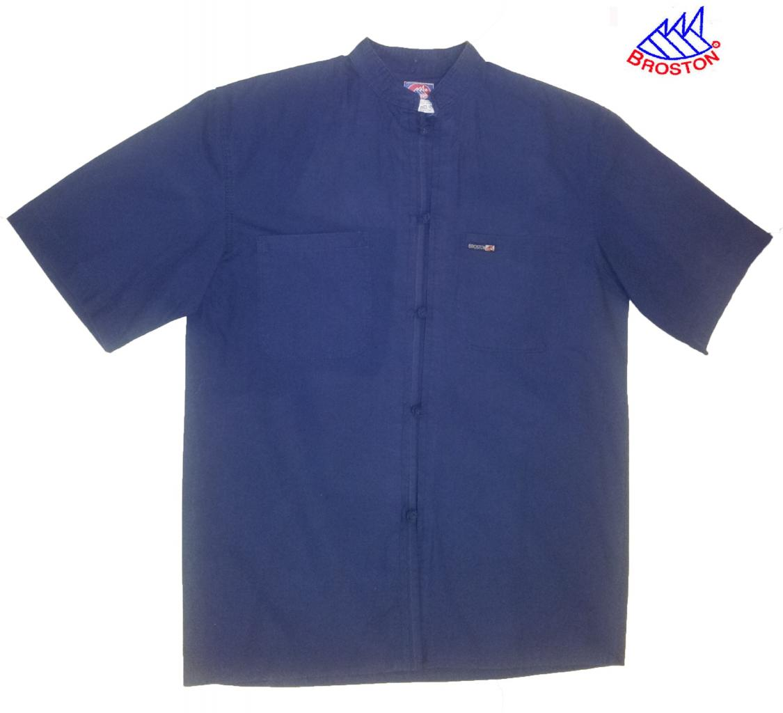 Polo Bleu Col Mao Broston